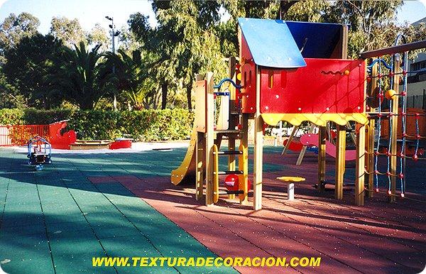 pavimentos de caucho reciclado para parques infantiles